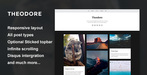 Theodore – A Responsive Gallery Theme