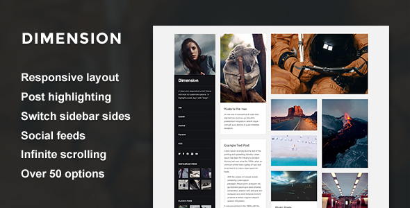 Dimension – A Responsive Sidebar Theme