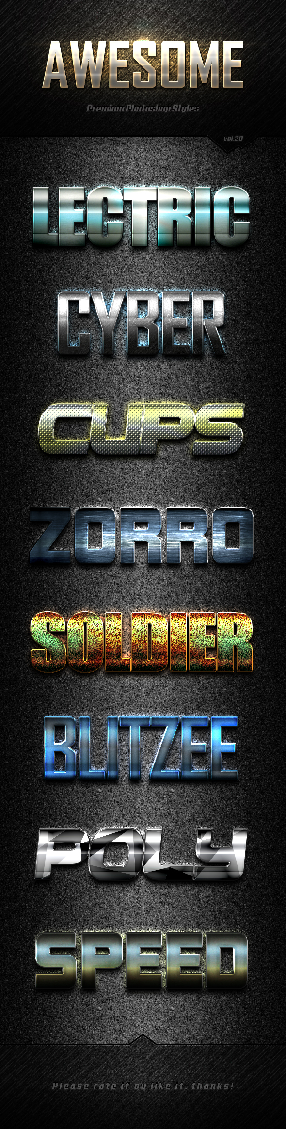 Photoshop Text Effects Vol.20 - Text Effects Styles