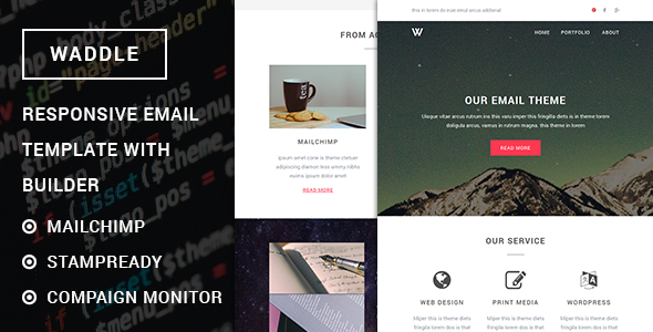 Waddle – Responsive Email Template with Stampready Builder