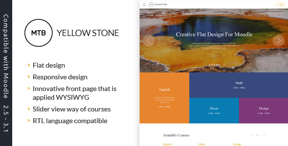 YellowStone – The premium moodle theme