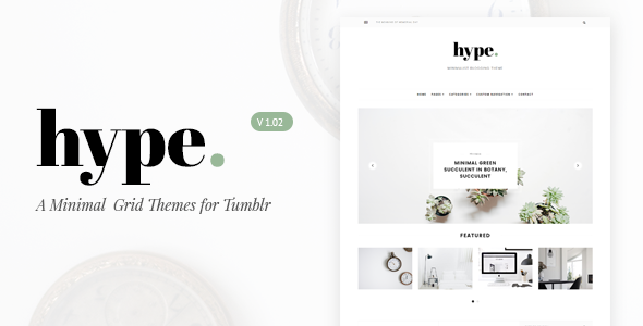 Hype | Minimal Grid Tumblr Theme