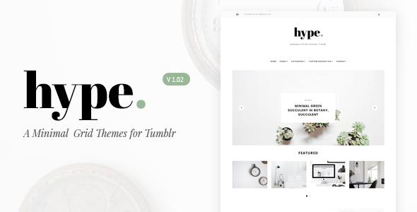 Hype | Minimal Grid Tumblr Theme