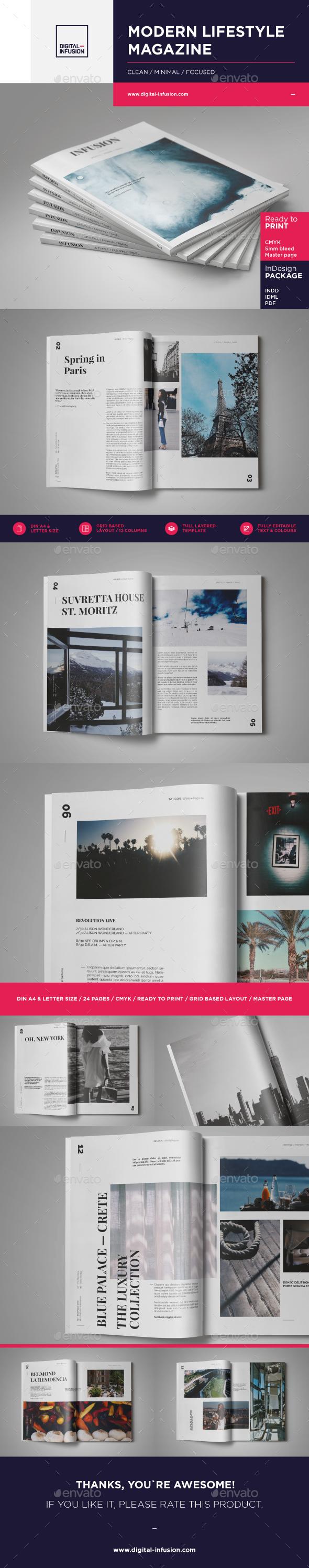 Infusion — Modern Lifestyle Magazine - Magazines Print Templates