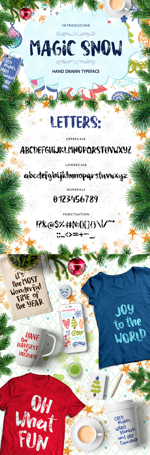 Magic Snow - Christmas Typefase - Handwriting Fonts