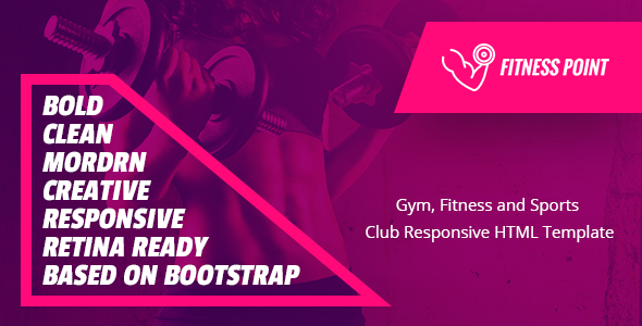 Fitness Point – Gym, Fitness and Sports  Club Responsive HTML Template