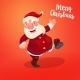 Santa on Holidays Red Backdrop - GraphicRiver Item for Sale
