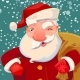 Santa on Snow Backdrop - GraphicRiver Item for Sale
