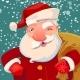 Santa on Snow Backdrop - GraphicRiver Item for Sale