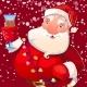 Illustration of Santa with Wineglass - GraphicRiver Item for Sale