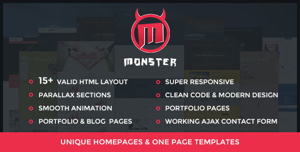 Monster Html - Corporate Html Template Bundle - Corporate Site Templates