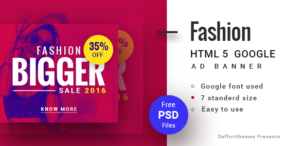 GWD  | Fashion discount HTML Banner 02 - CodeCanyon Item for Sale
