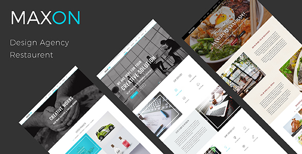 MAXON – Multipurpose One Page PSD Template - Creative PSD Templates