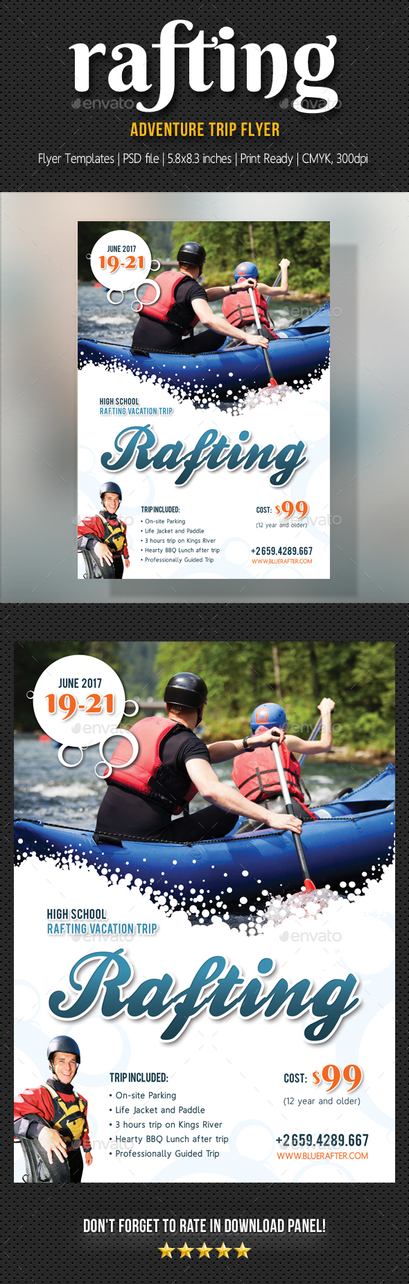 Rafting Flyer V2 - Sports Events