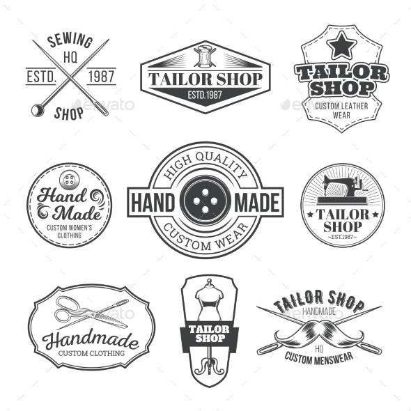 Tailor Emblem Signage - Decorative Symbols Decorative