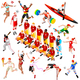 Sport Isometric Olympic Set Sportsmen - GraphicRiver Item for Sale