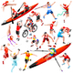 Sport Isometric Olympic Set Vector Sportsmen Illustration - GraphicRiver Item for Sale