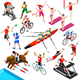 Sport Isometric Sportsmen Game Olympic Set Vector Illustration - GraphicRiver Item for Sale