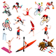 Sport Isometric Sportsmen Olympic Set Game Vector Illustration - GraphicRiver Item for Sale