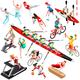 Sport Isometric Sportsmen Set Game Olympic Vector Illustration