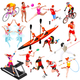 Sport Isometric Sportsmen Set Olympic Vector Illustration - GraphicRiver Item for Sale