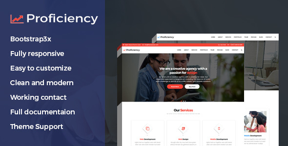 Proficiency Material Design Business HTML Template