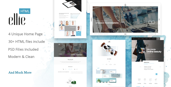 Ellie Creative HTML Template - Creative Site Templates