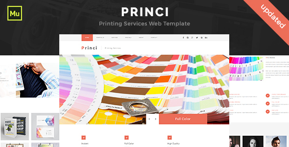 Princi – Responsive Printing Services Web Template