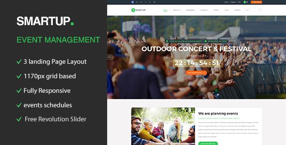 Smart Up – Conference & Event Management WordPress Theme