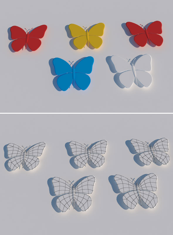 Butterfly 3d Model - 3DOcean Item for Sale