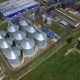 Steel Wheat Silos Aerial - VideoHive Item for Sale