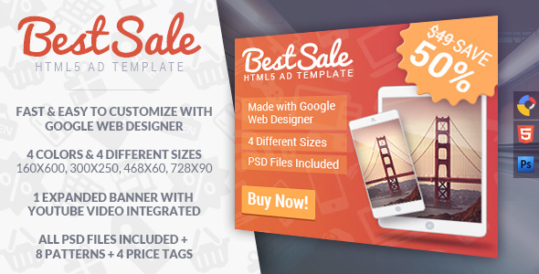BestSale - HTML5 Promotional Banner Template - CodeCanyon Item for Sale