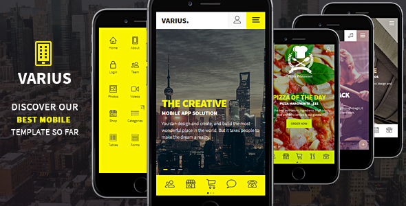 Varius - Mobile and Tablet Creative Template