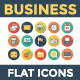 100 Business Flat Circle Shadow Icons - GraphicRiver Item for Sale