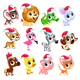 Christmas Animals - GraphicRiver Item for Sale
