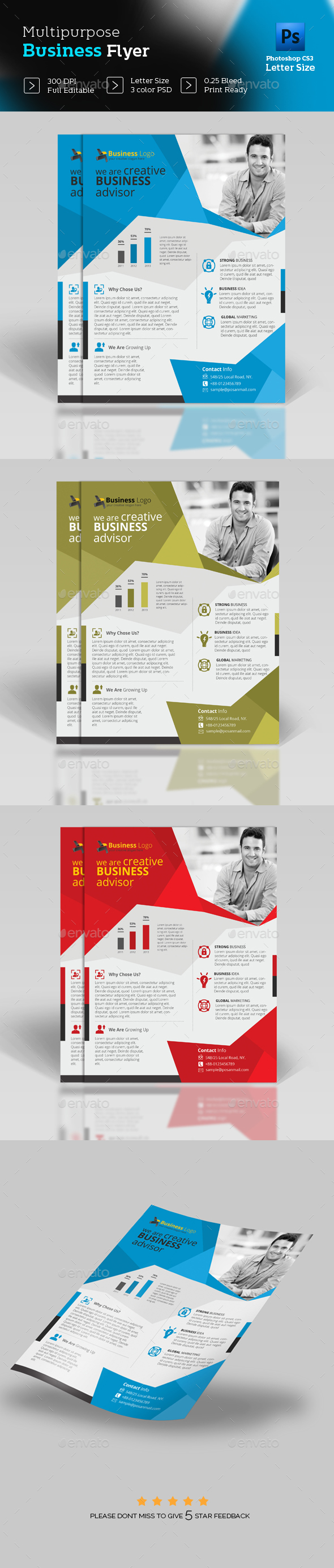 Flyer Design Template - Flyers Print Templates