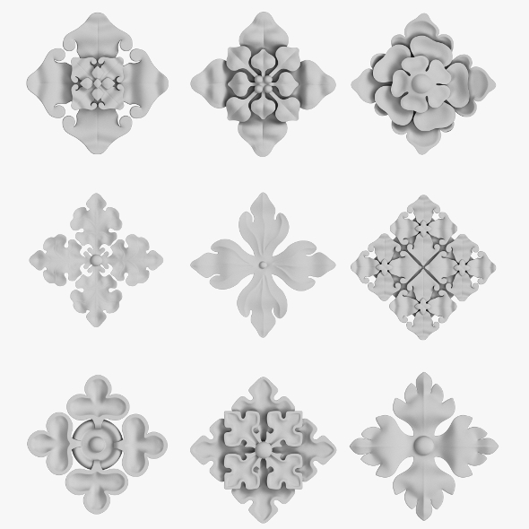 Architectural Ornament vol 03 - 3DOcean Item for Sale