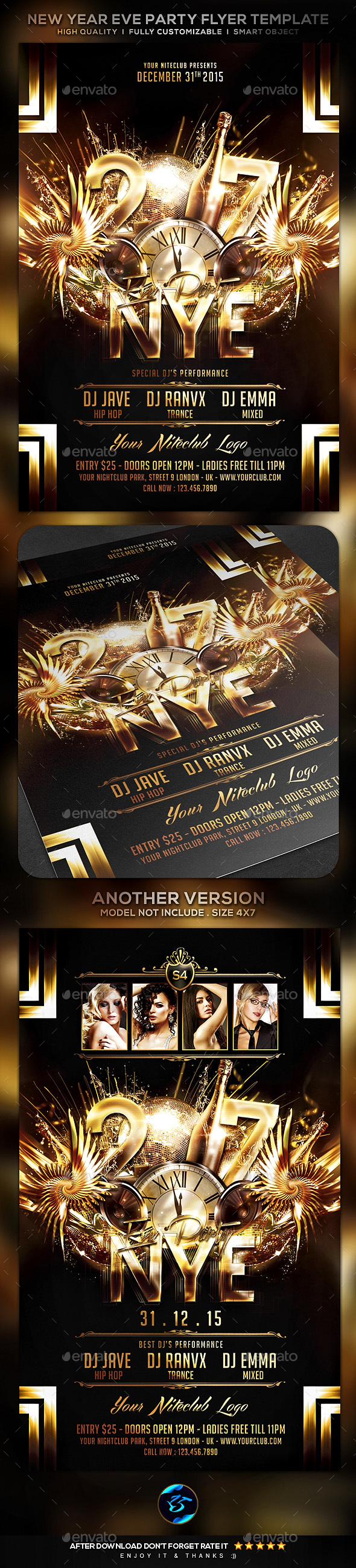 New Year Eve Party Flyer Template - Clubs & Parties Events