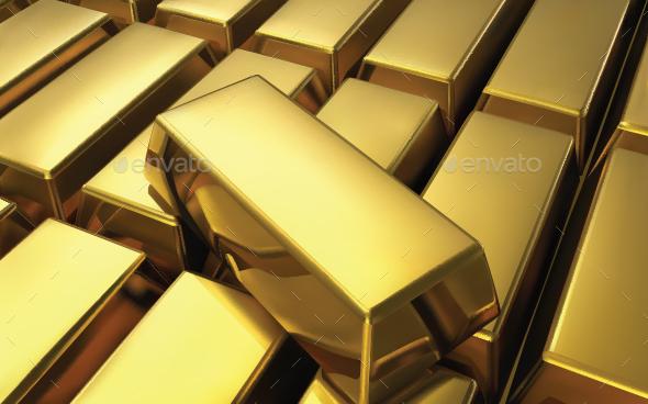 Gold Bar - Backgrounds Decorative
