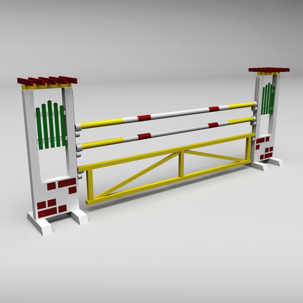 Horse jump obstacle 04 - 3DOcean Item for Sale