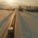 Several Cars Driving on Icy Road at the Dusk - VideoHive Item for Sale