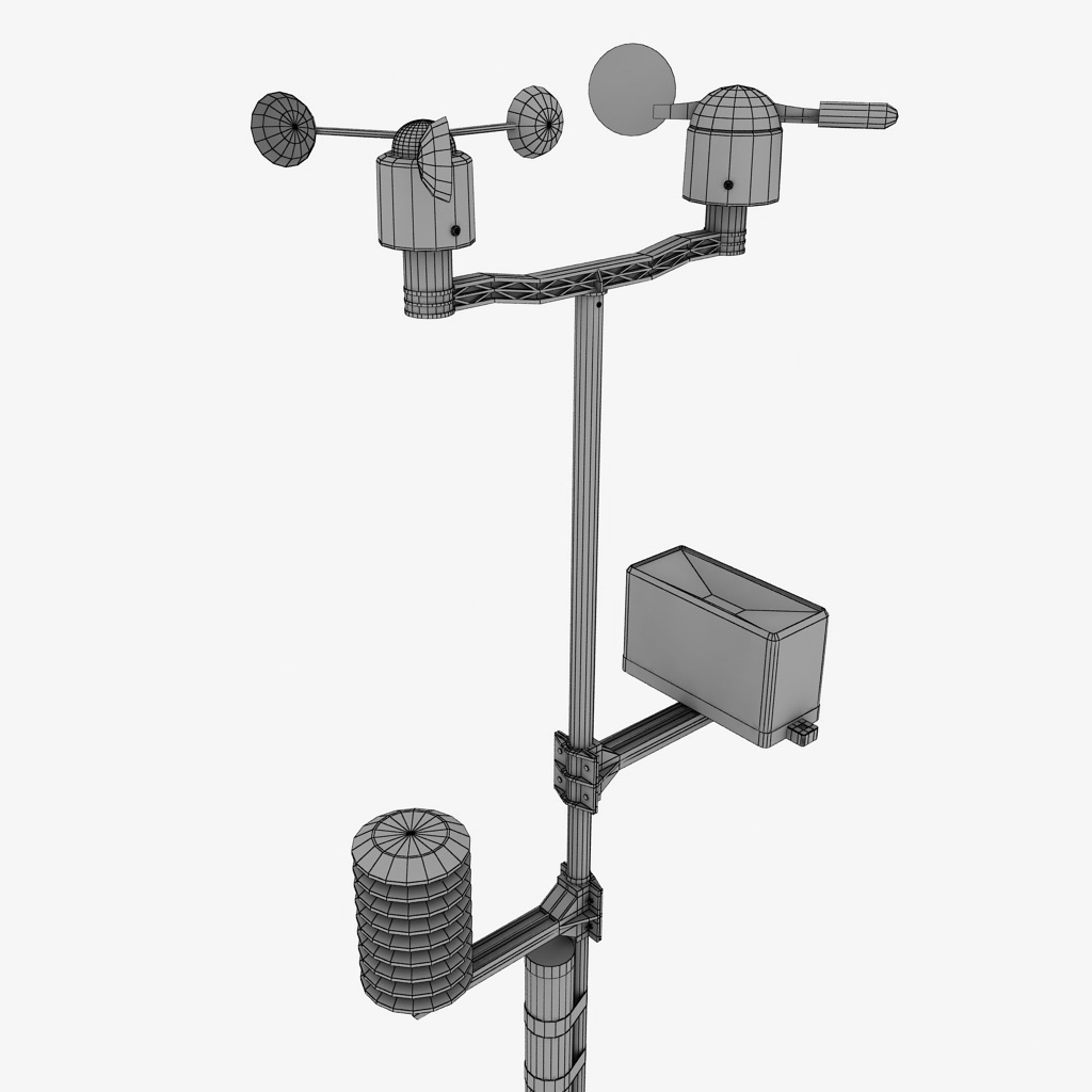 weather meteo station by kr3atura 3docean. Black Bedroom Furniture Sets. Home Design Ideas
