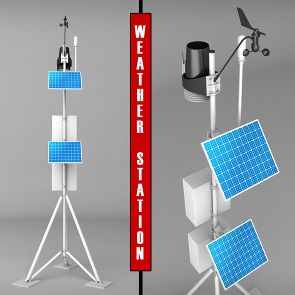 Weather meteo station high detail - 3DOcean Item for Sale
