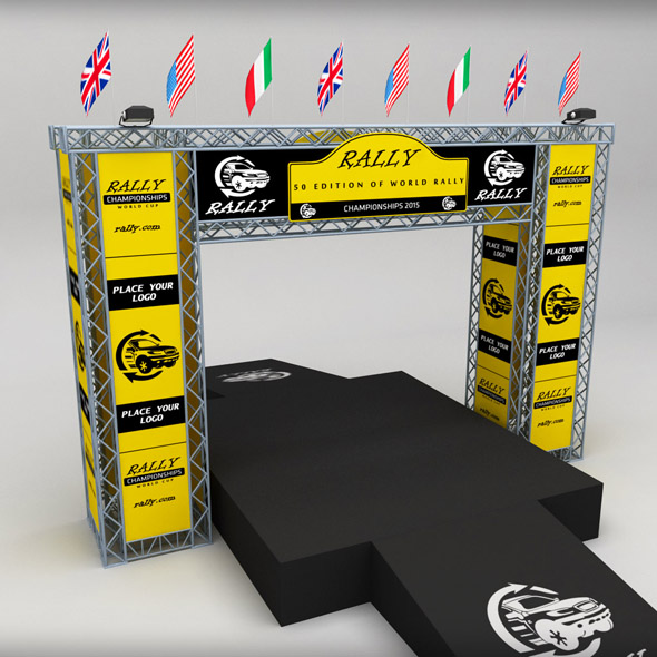 WRC motor sport podium - 3DOcean Item for Sale