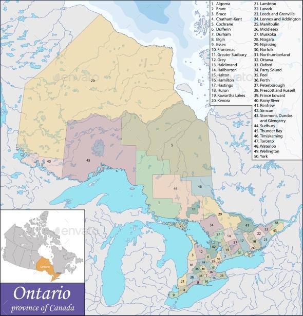 Map of Ontario - Travel Conceptual