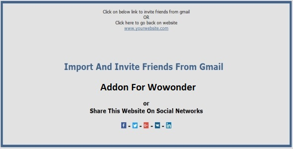 Import and Invite Gmail Contacts Addon For Wowonder - CodeCanyon Item for Sale