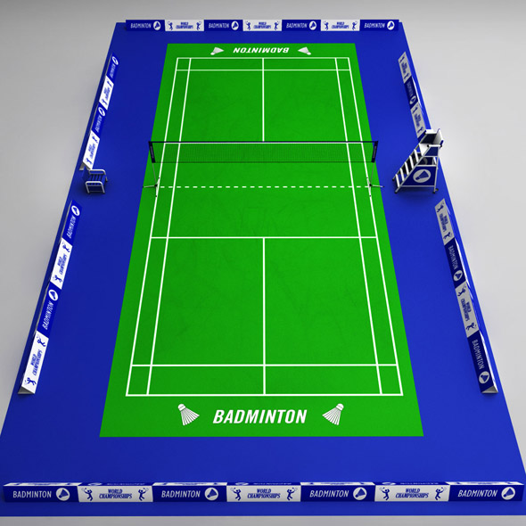 Badminton court arena - 3DOcean Item for Sale