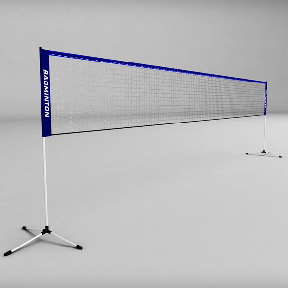 Badminton net low poly - 3DOcean Item for Sale