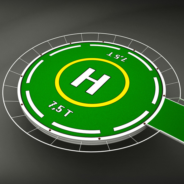 Helipad rounded - 3DOcean Item for Sale