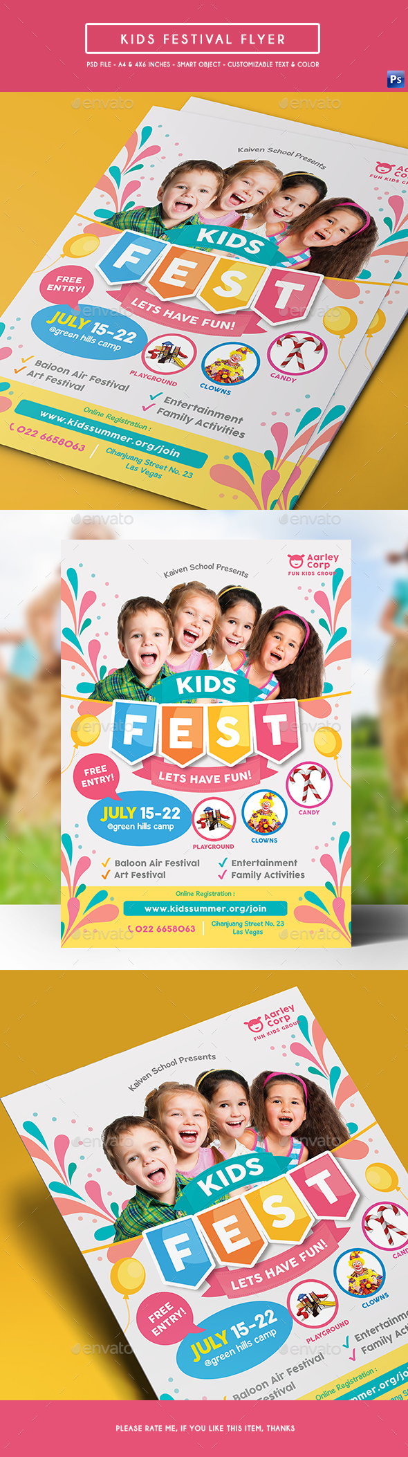 Kids Festival Flyer - Events Flyers